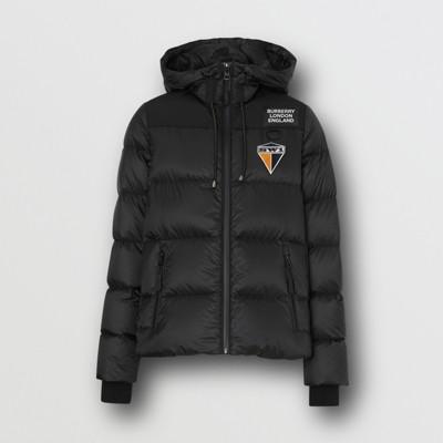 Hooded Logo Down Jacket