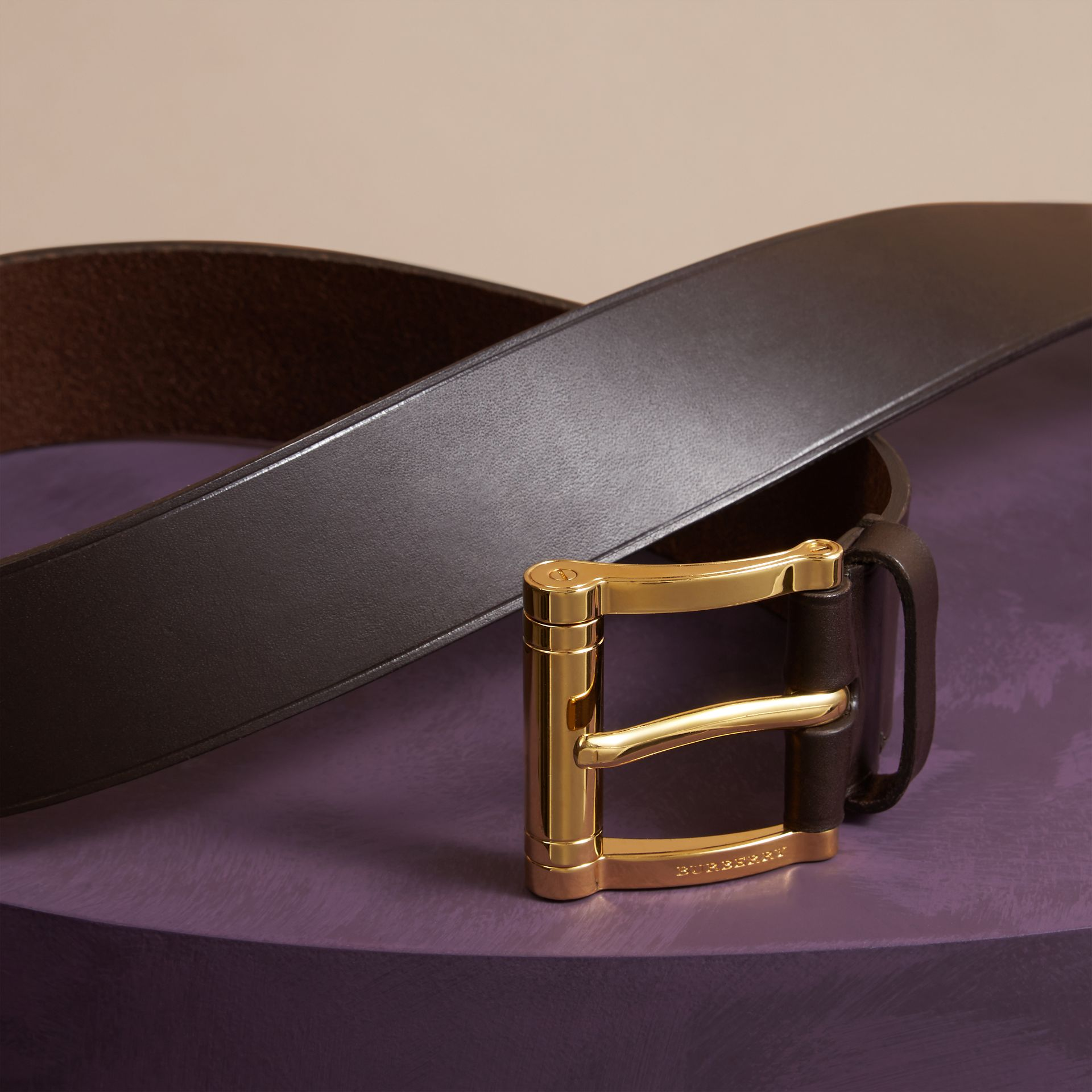 Dark clove brown Bridle Leather Belt Dark Clove Brown - gallery image 3