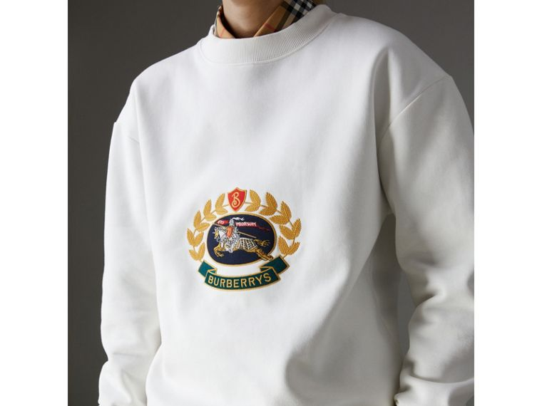 Reissued Jersey Sweatshirt in Off White - Women | Burberry - cell image 1