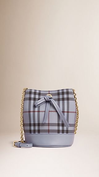 Sac Burberry Baby Bucket à motif Horseferry check surteint