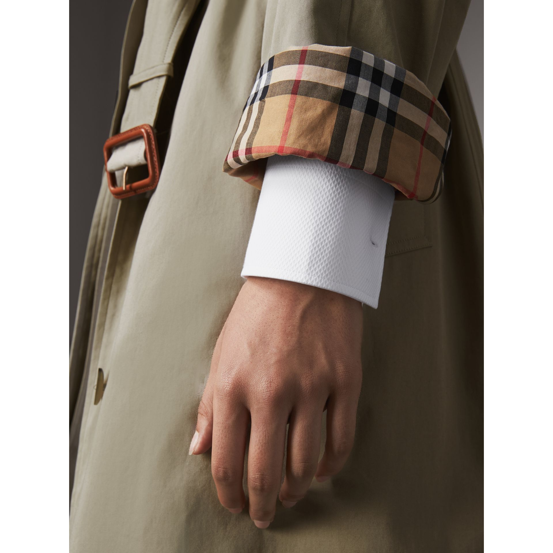 The Brighton – Extra-long Car Coat in Sandstone - Women | Burberry Singapore - gallery image 5