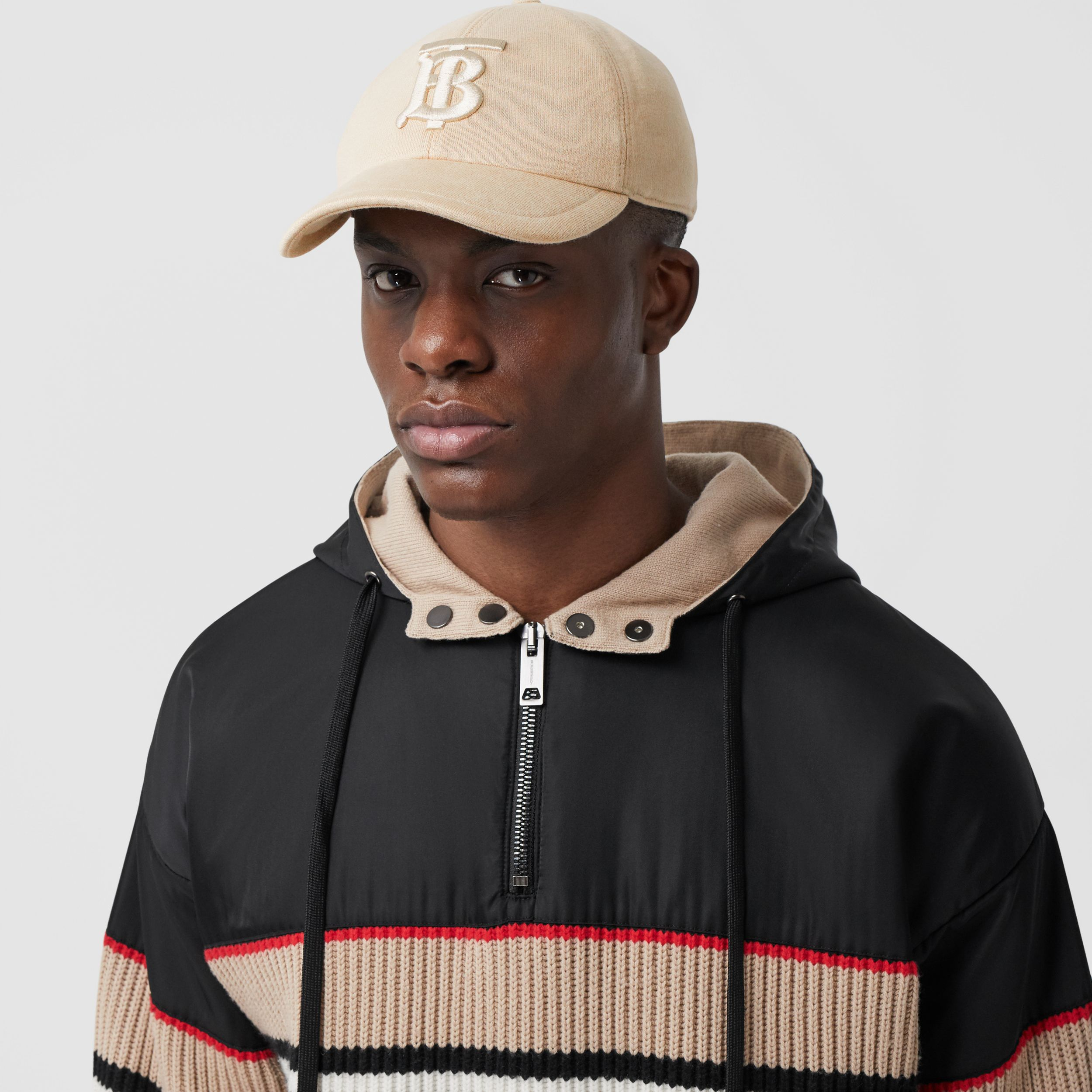 Monogram Motif Jersey Baseball Cap in Soft Fawn | Burberry United Kingdom - 4
