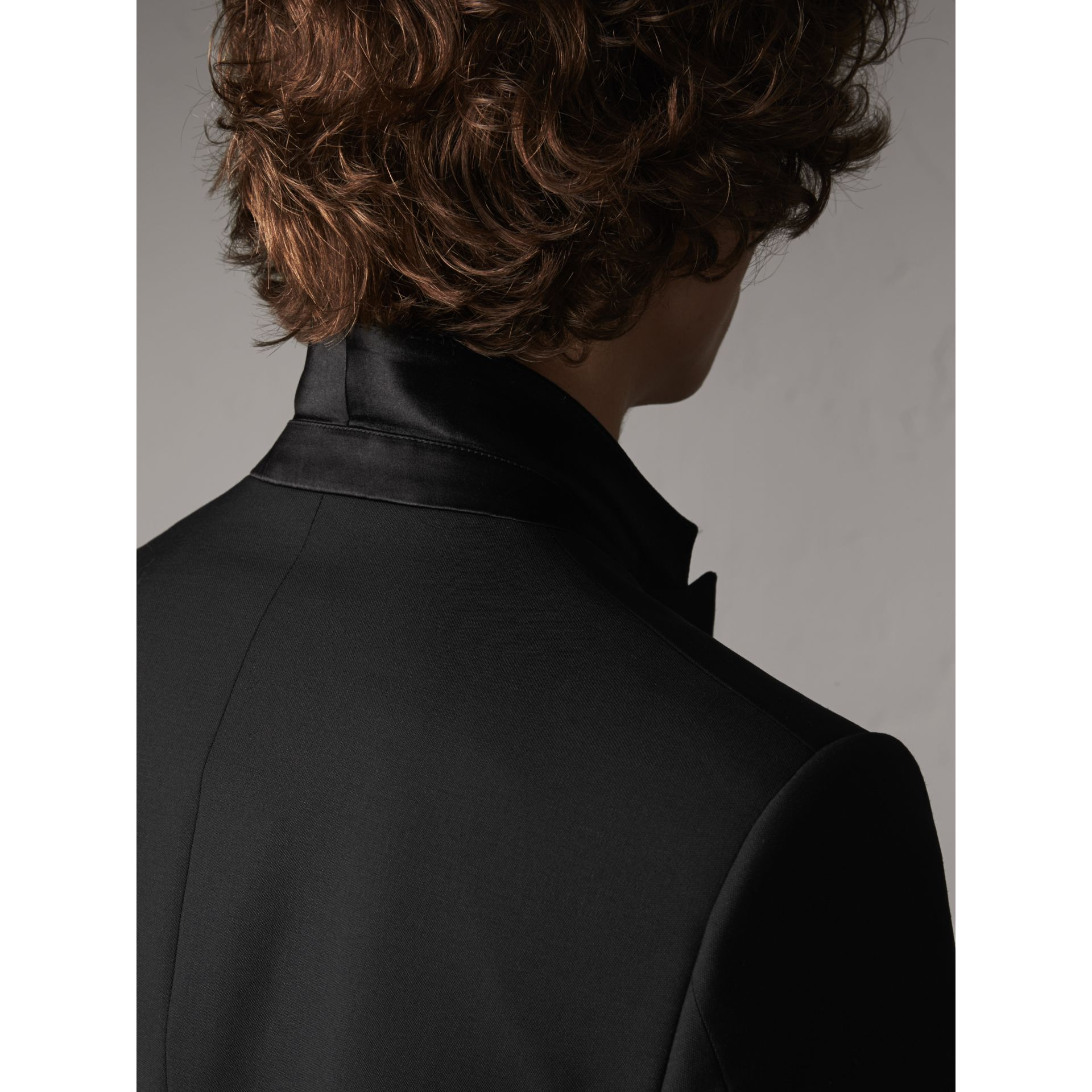Slim Fit Wool Mohair Half-canvas Tuxedo in Black - Men | Burberry - gallery image 6
