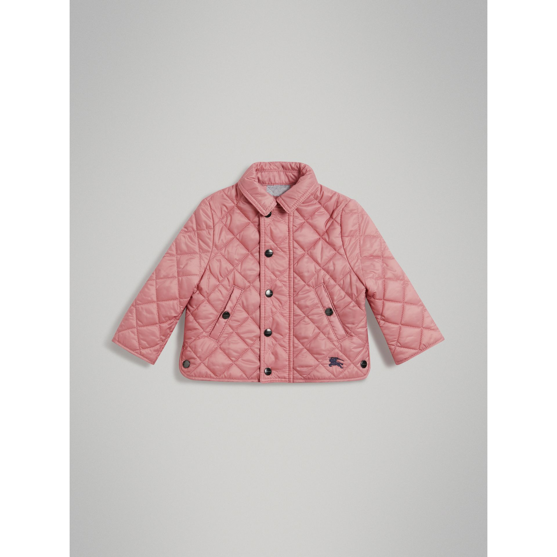 Lightweight Diamond Quilted Jacket in Pale Ash Rose - Children | Burberry Canada - gallery image 0