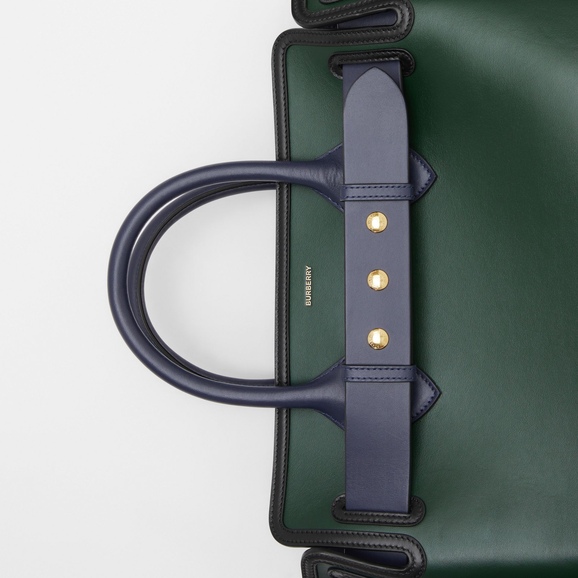 The Medium Leather Triple Stud Belt Bag in Dark Pine Green - Women | Burberry Hong Kong S.A.R - gallery image 1