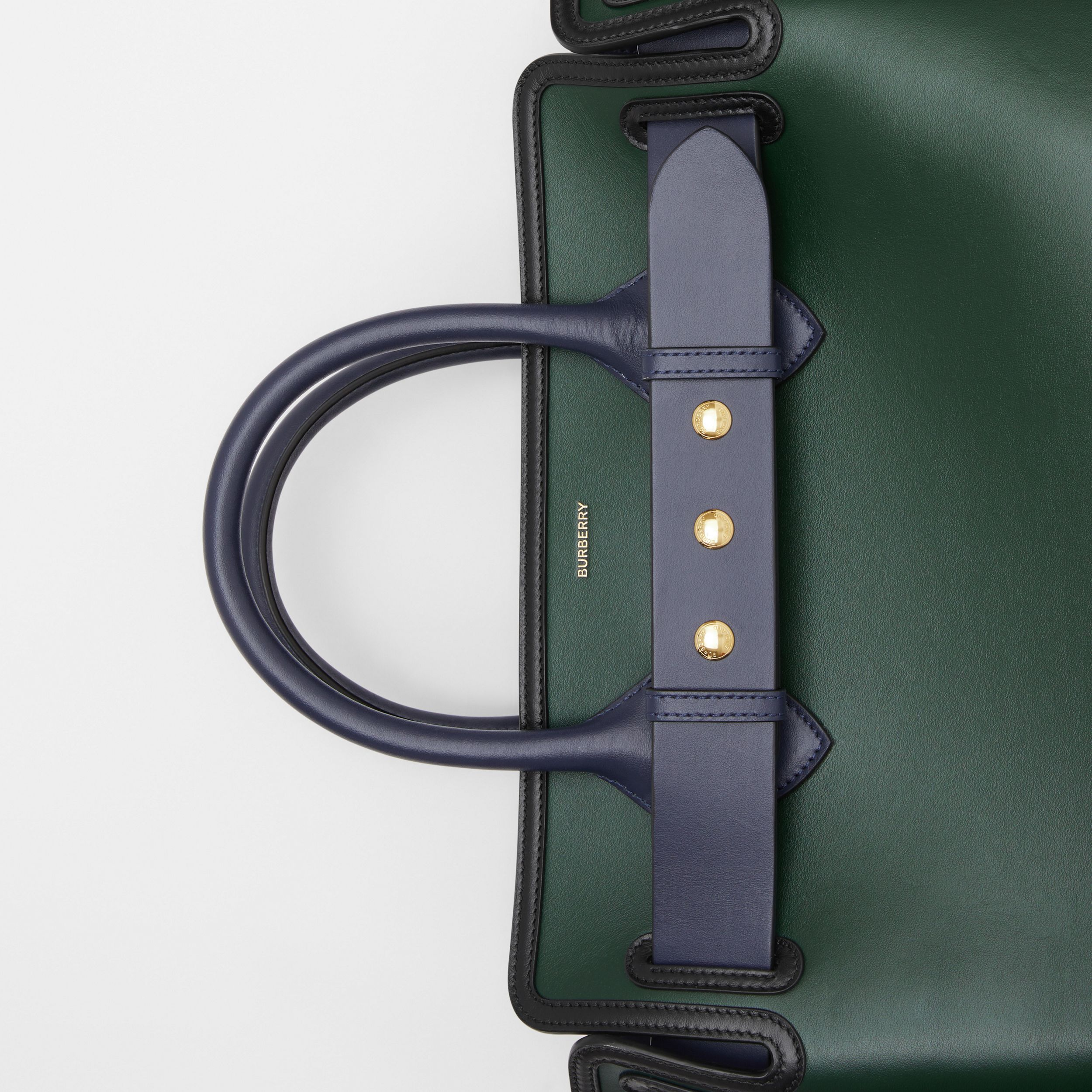 The Medium Leather Triple Stud Belt Bag in Dark Pine Green - Women | Burberry - 2