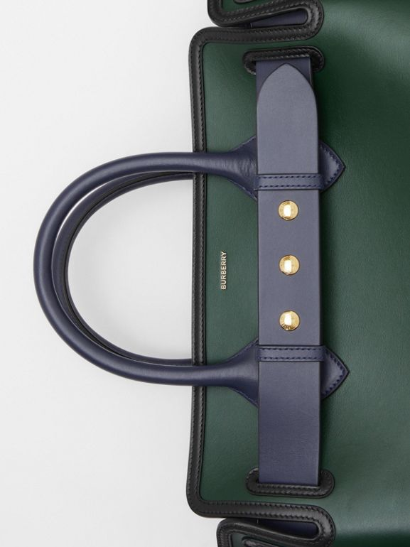 The Medium Leather Triple Stud Belt Bag in Dark Pine Green - Women | Burberry Hong Kong S.A.R - cell image 1