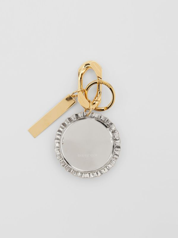 Gold and Palladium-plated Bottle Cap Charm in White - Women | Burberry - cell image 2