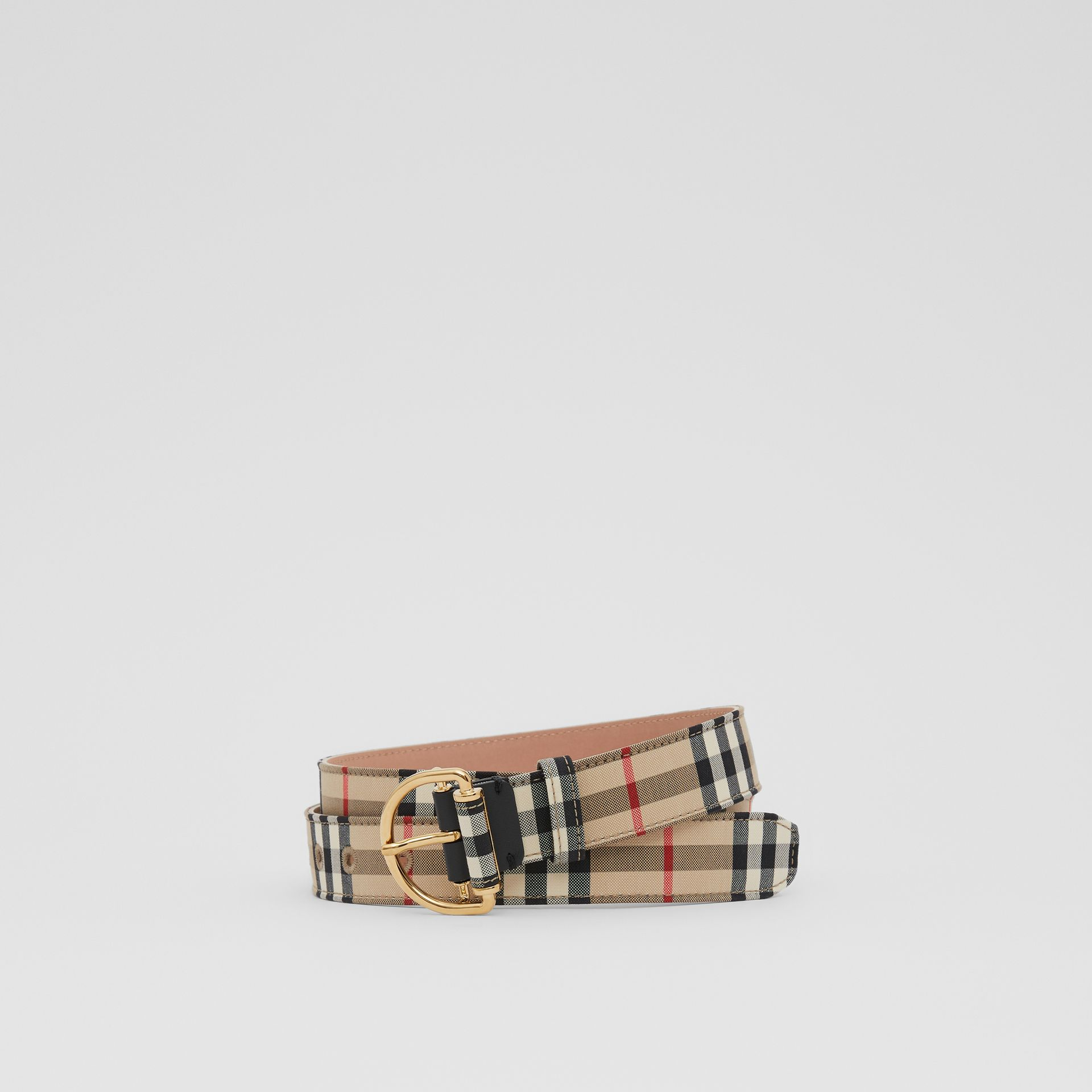 Vintage Check Cotton Blend D-ring Belt in Archive Beige - Women | Burberry - gallery image 0