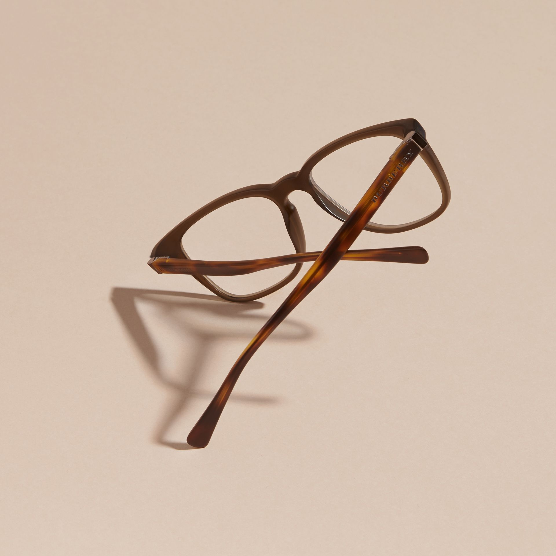 Square Optical Frames in Olive - gallery image 4