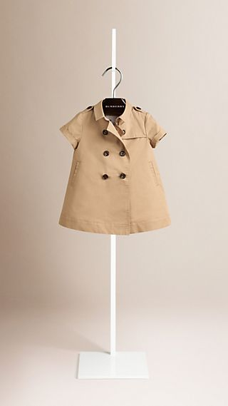 Cotton Trench Dress