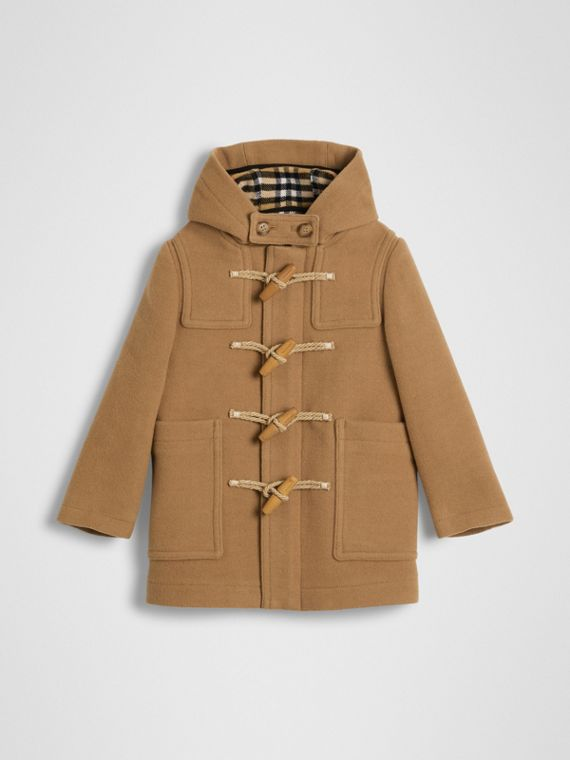 Double-faced Wool Duffle Coat in Antique Yellow