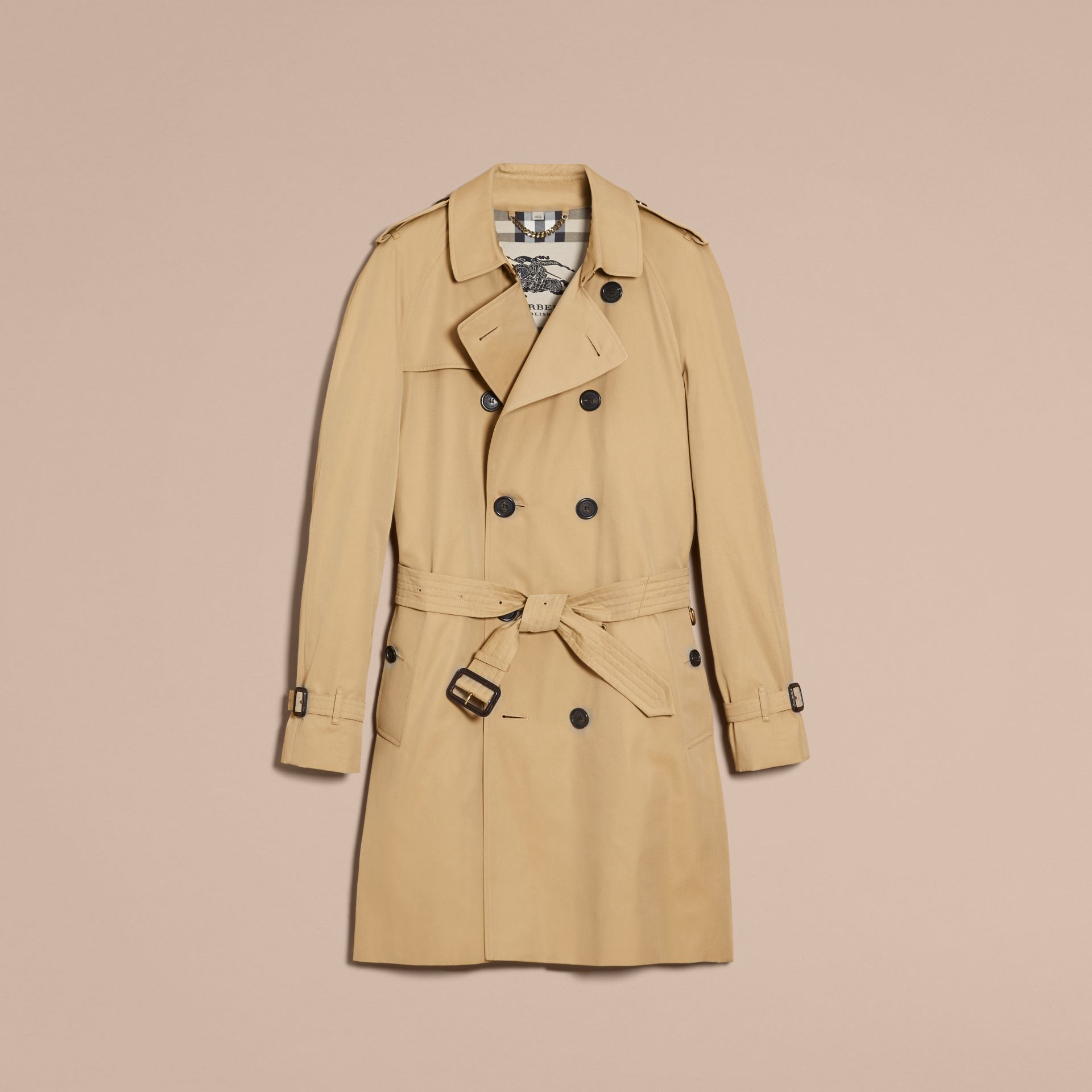 Honey The Wiltshire – Long Heritage Trench Coat Honey - gallery image 4