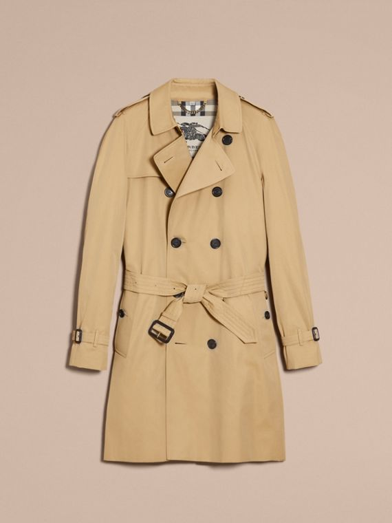 Honey The Wiltshire – Long Heritage Trench Coat Honey - cell image 3