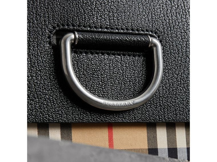 The Medium D-Ring Bag aus Vintage Check-Gewebe und Leder (Schwarz) - Damen | Burberry - cell image 1