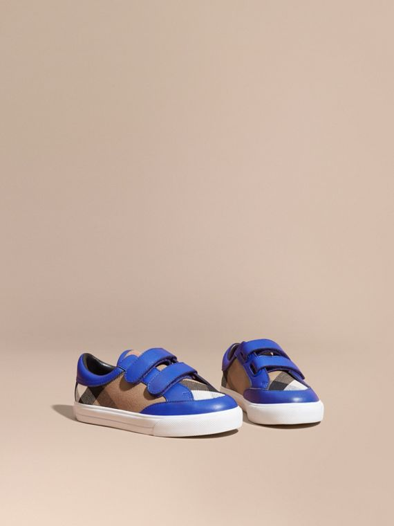 Sneakers en coton House check et cuir