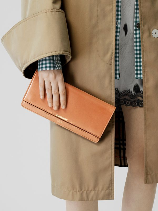 Horseferry Print Leather Bag with Detachable Strap in Nutmeg - Women | Burberry Hong Kong - cell image 2