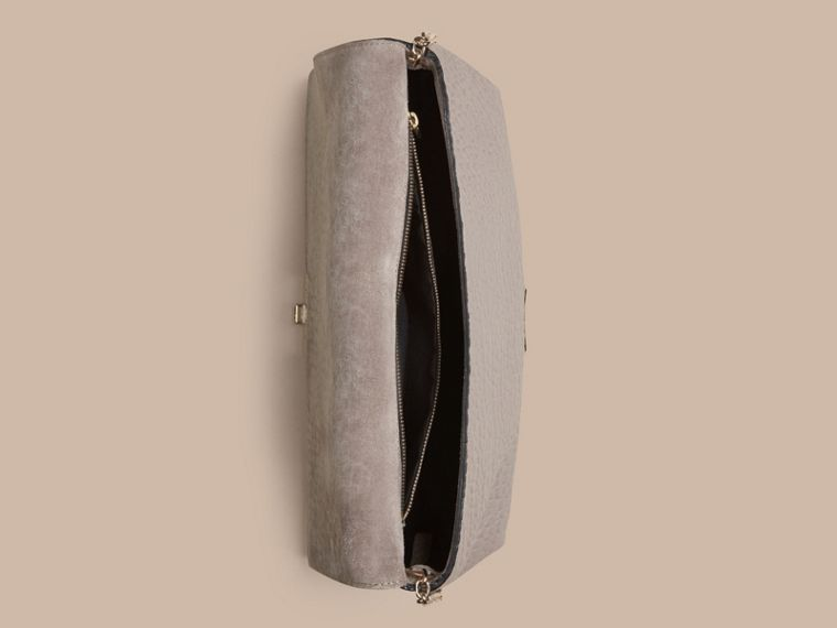 Pale grey Medium Signature Grain Leather Clutch Bag Pale Grey - cell image 4