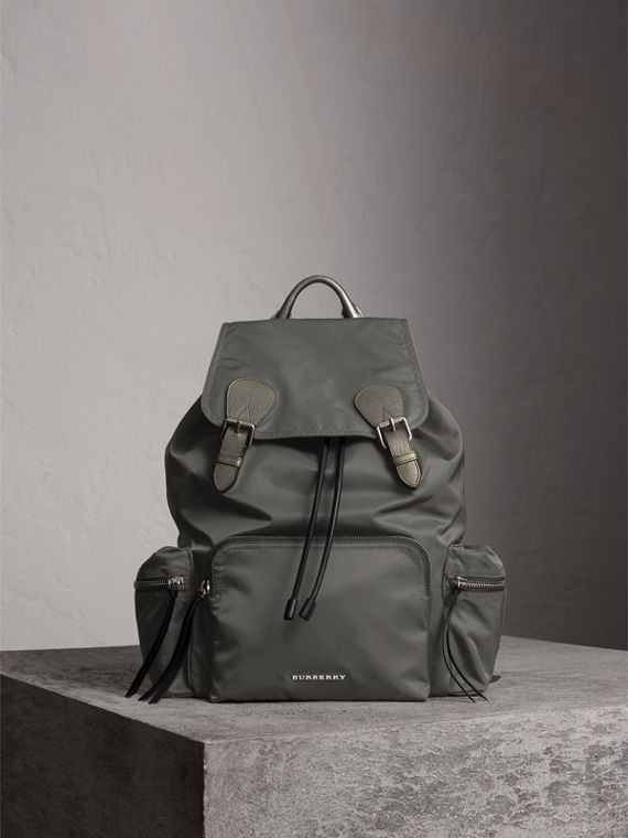 The Medium Rucksack in Technical Nylon and Leather - Women | Burberry