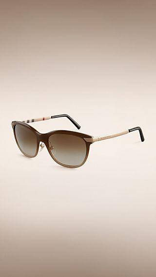 Trench Collection Round Frame Sunglasses