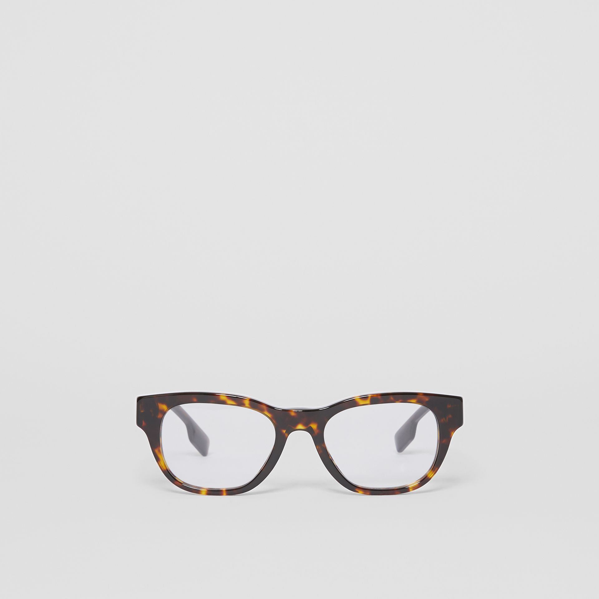 Square Optical Frames in Tortoiseshell - Men | Burberry United Kingdom - gallery image 0