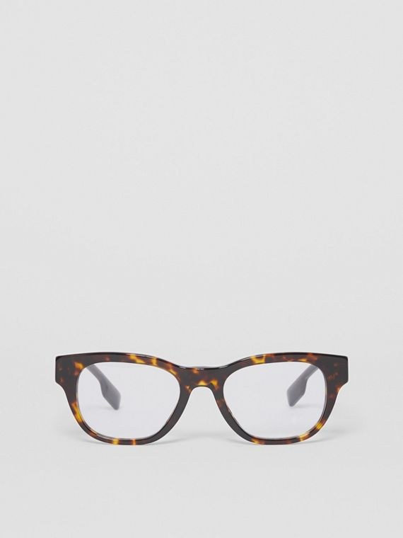 Square Optical Frames in Tortoiseshell