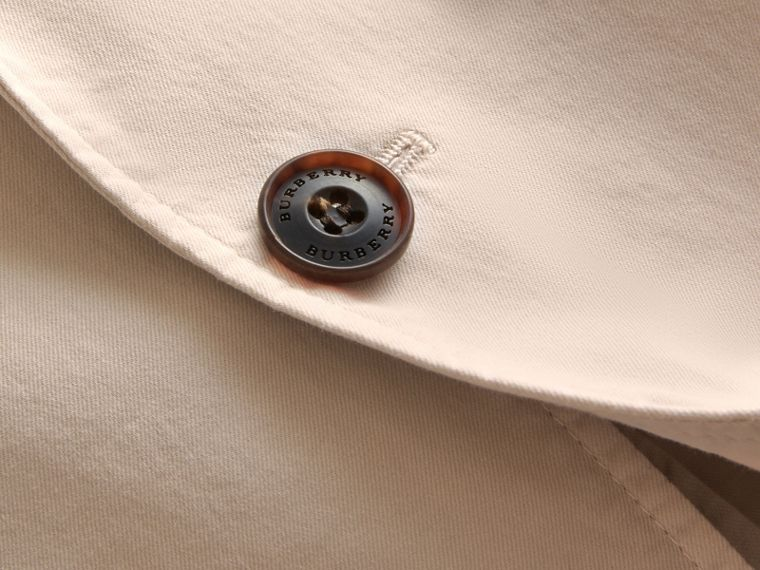 Slim Fit Stretch-cotton Blazer Sand - cell image 1