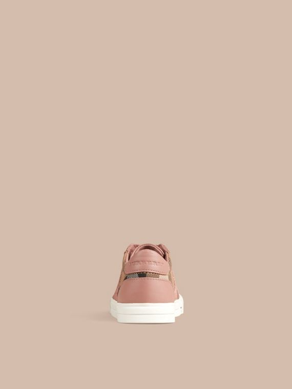 Nude blush House Check and Leather Trainers Nude Blush - cell image 3