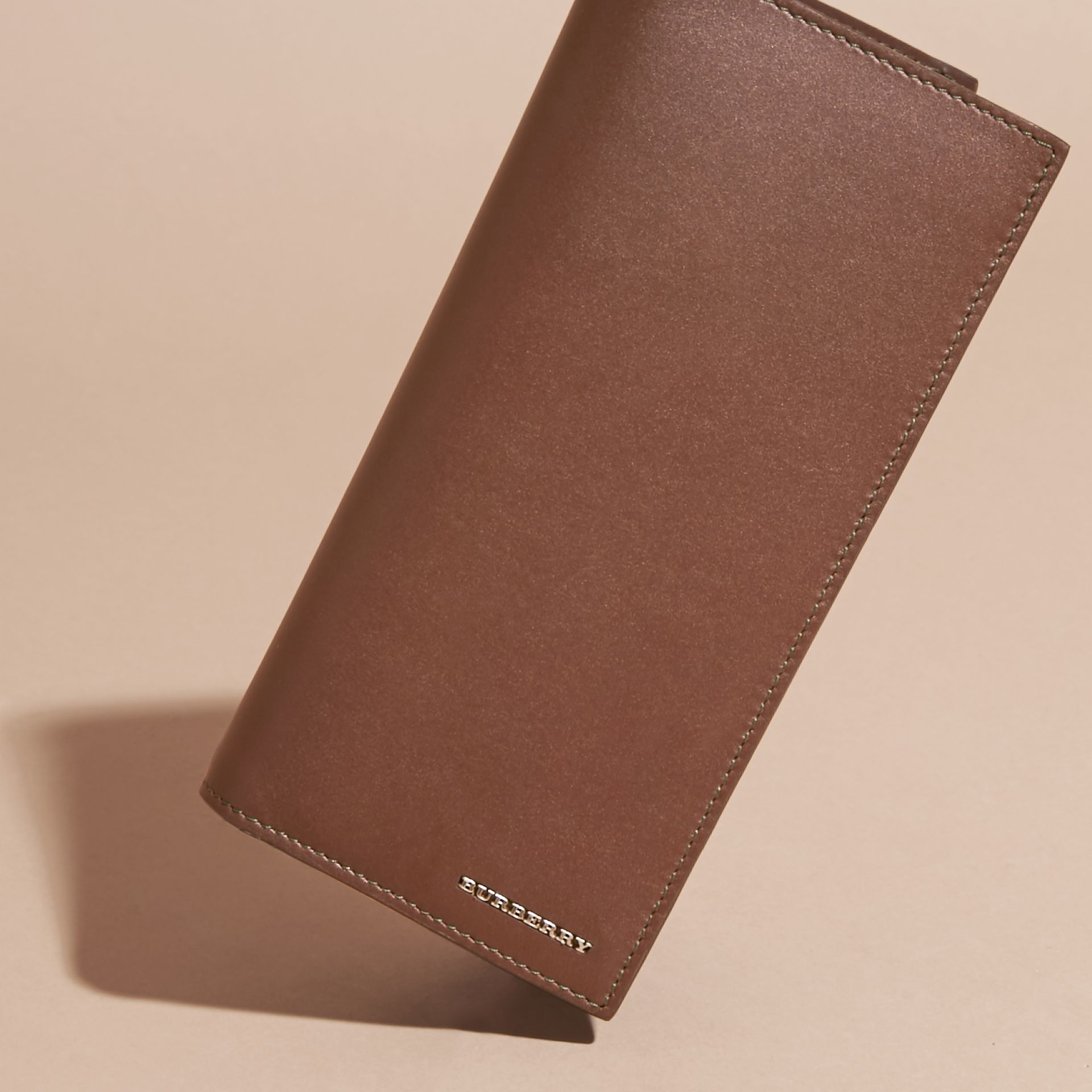 Sepia brown Smooth Leather Continental Wallet Sepia Brown - gallery image 3