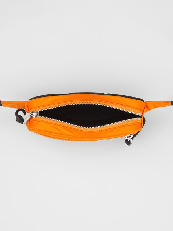 Small Logo Print Bum Bag in Bright Orange | Burberry United States - cell image 3