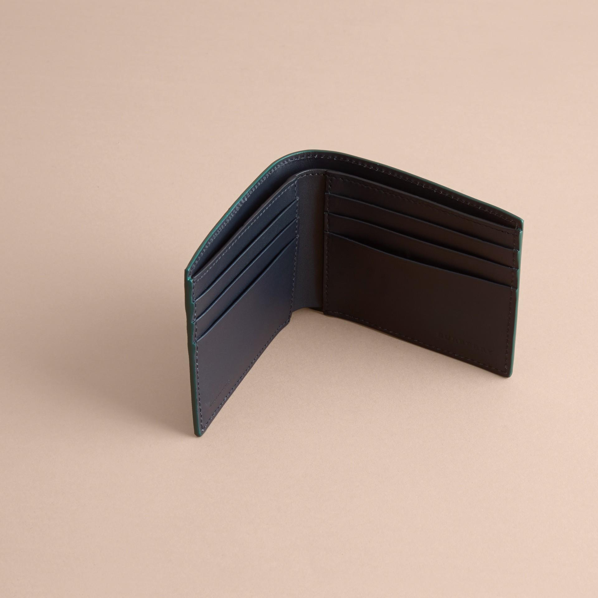 London Leather Bifold Wallet in Dark Teal - gallery image 5