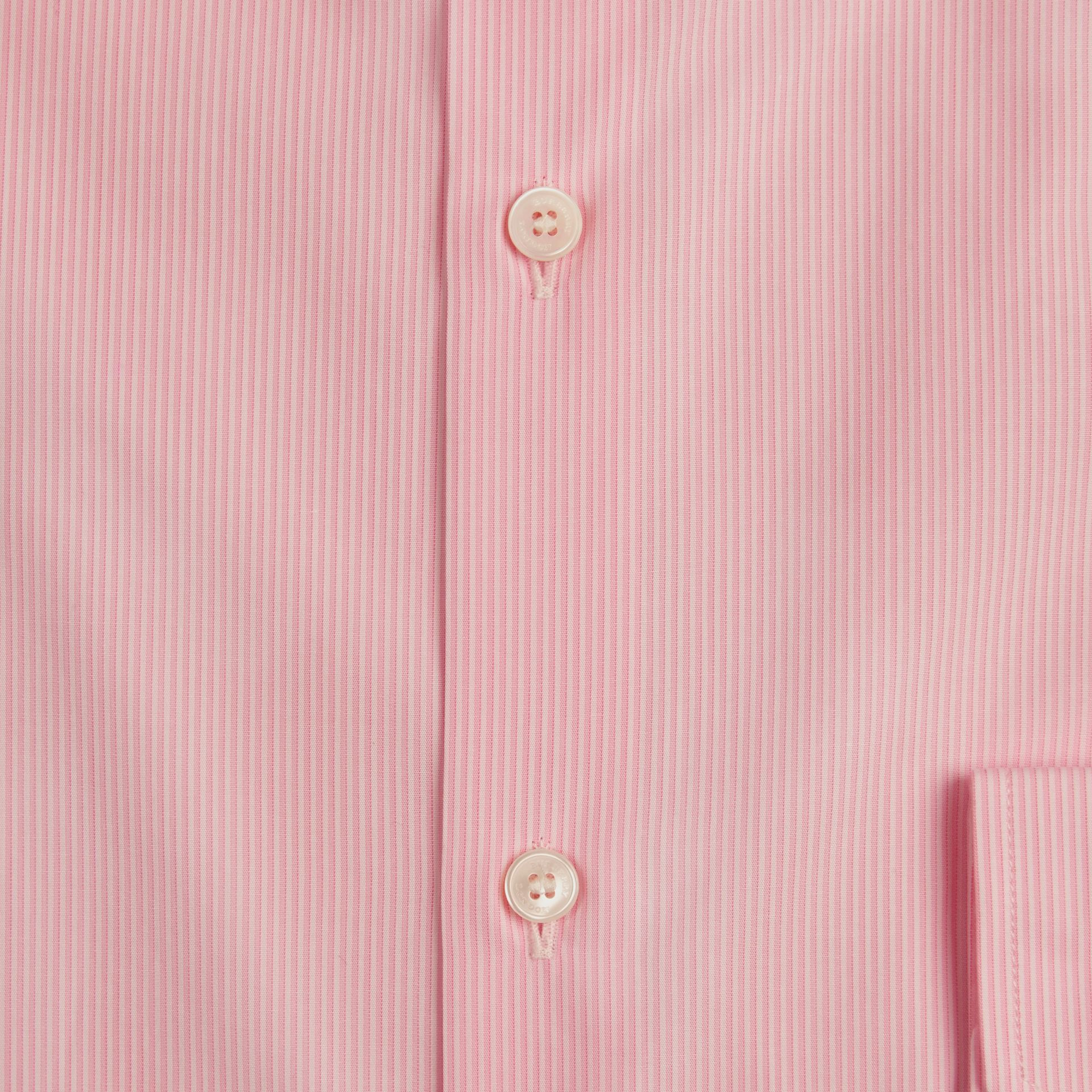 Slim Fit Cotton Poplin Shirt in City Pink - Men | Burberry - gallery image 2