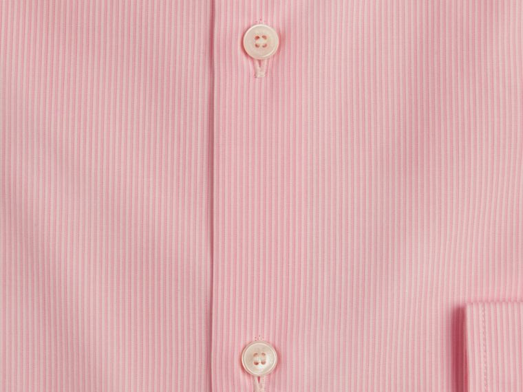 Slim Fit Cotton Poplin Shirt in City Pink - Men | Burberry - cell image 1