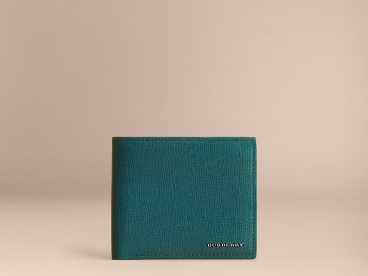 London Leather Folding Wallet Dark Teal - cell image 1