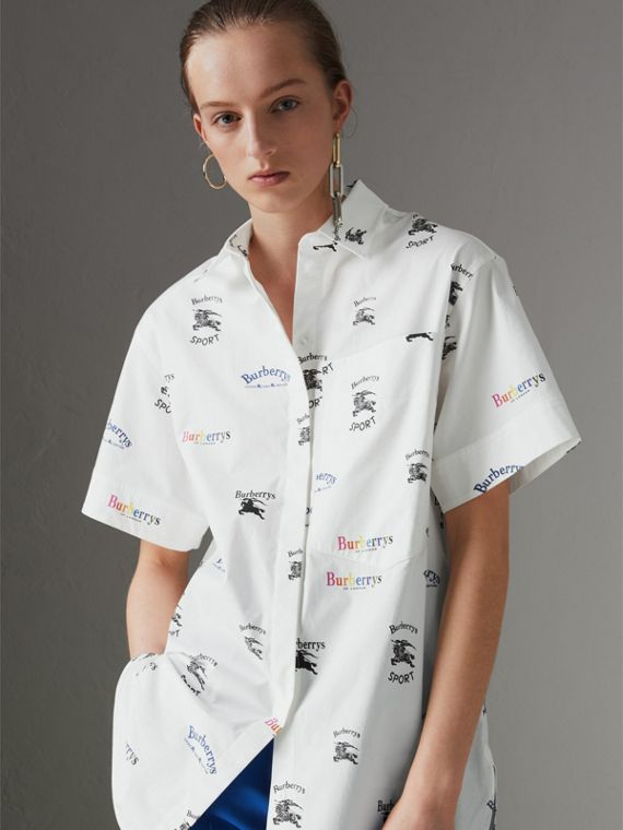 Short-sleeve Archive Logo Print Shirt in Multicolour