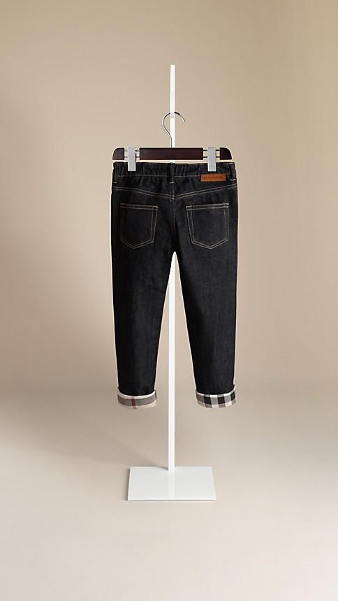 True indigo Check Cuff Indigo Jeans - Image 2