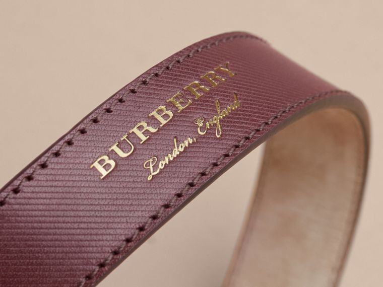 Trench Leather Belt in Wine - Men | Burberry Singapore - cell image 1