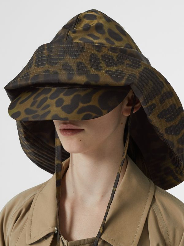 Animal Print Rain Hat in Light Green | Burberry - cell image 2