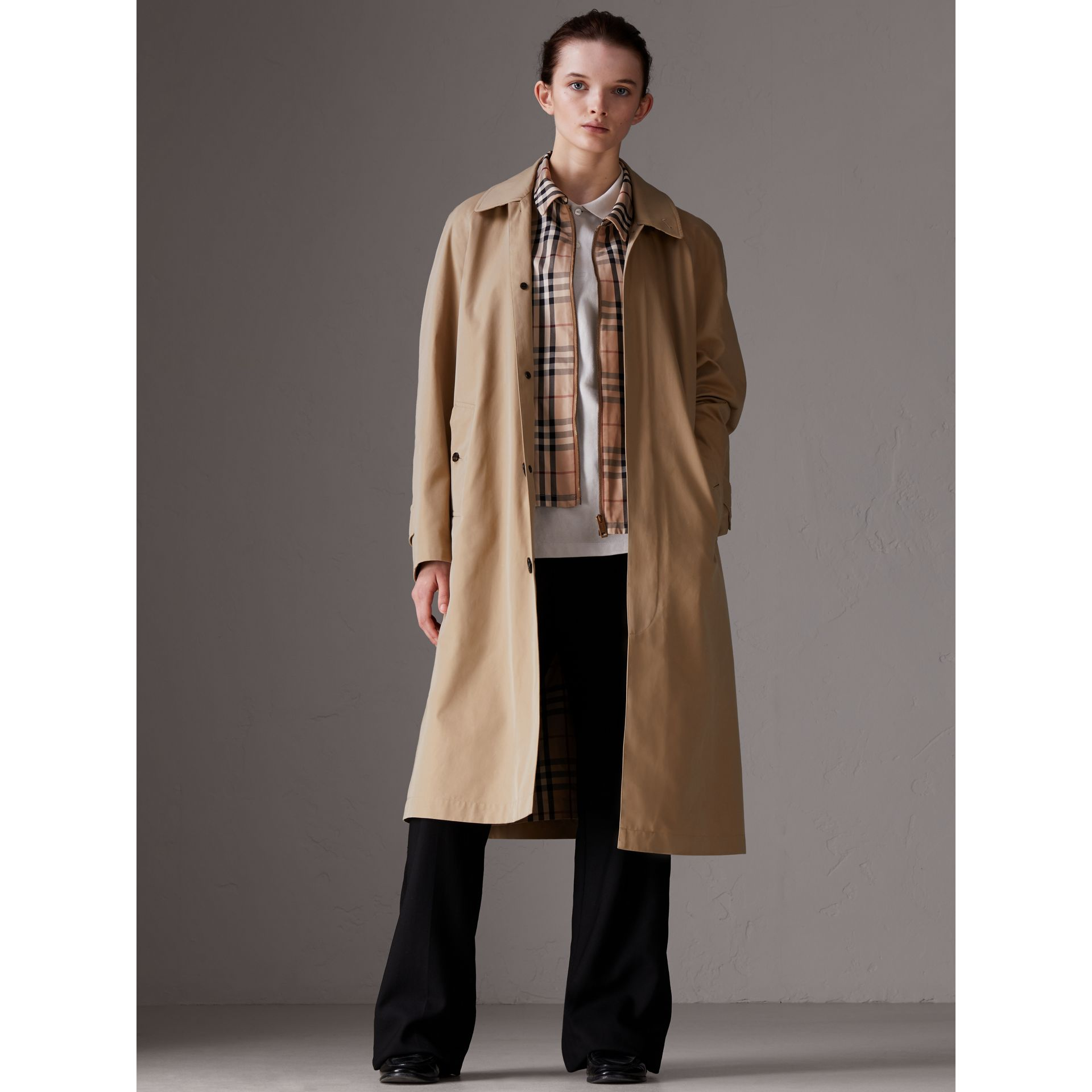 Gosha x Burberry Reconstructed Car Coat in Honey | Burberry Australia - gallery image 3