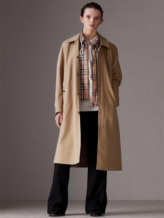 Gosha x Burberry Reconstructed Car Coat in Honey | Burberry Australia - cell image 3