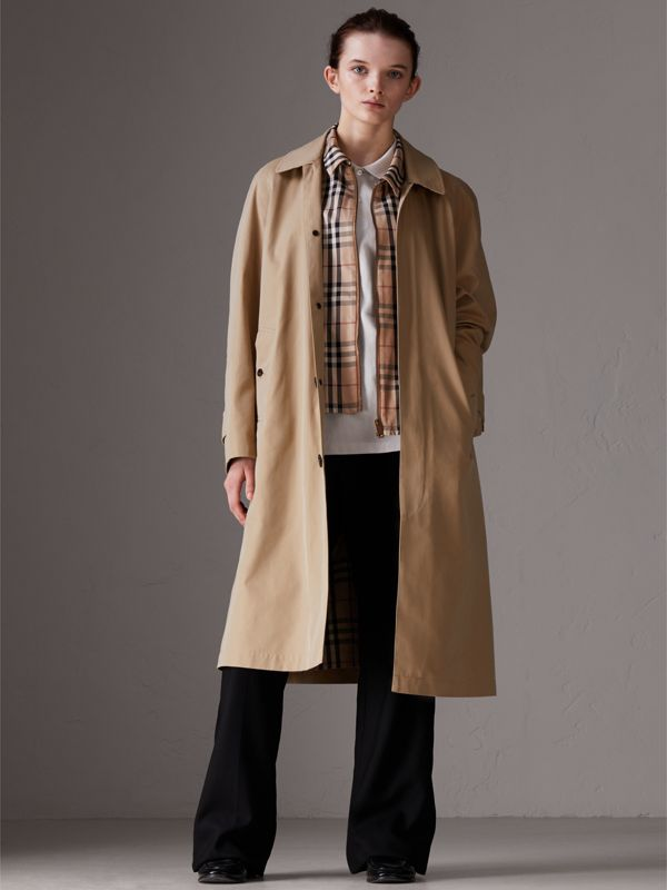 Gosha x Burberry Reconstructed Car Coat in Honey - Men | Burberry Singapore - cell image 3