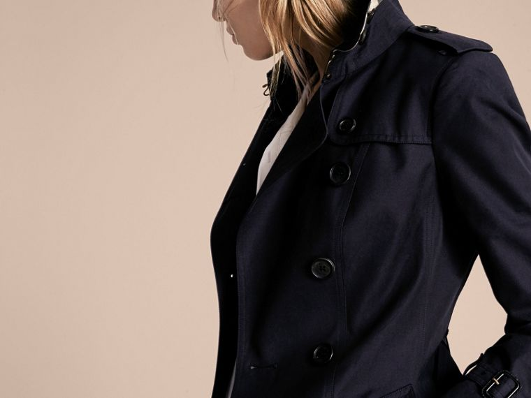 Navy The Sandringham – Mid-length Heritage Trench Coat Navy - cell image 4
