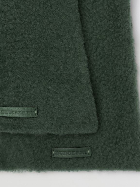 Shearling and Leather Gloves in Powder Green - Women | Burberry - cell image 1