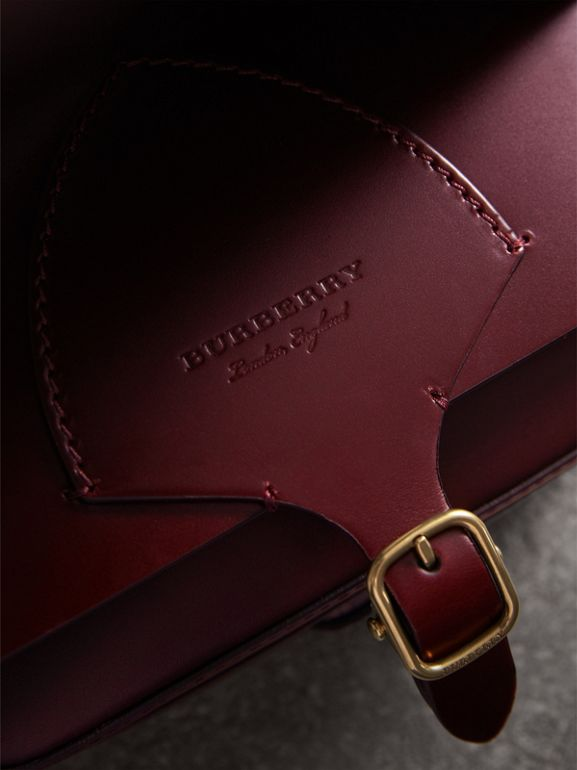 The Square Satchel in Bridle Leather in Deep Claret - Women | Burberry United Kingdom - cell image 1
