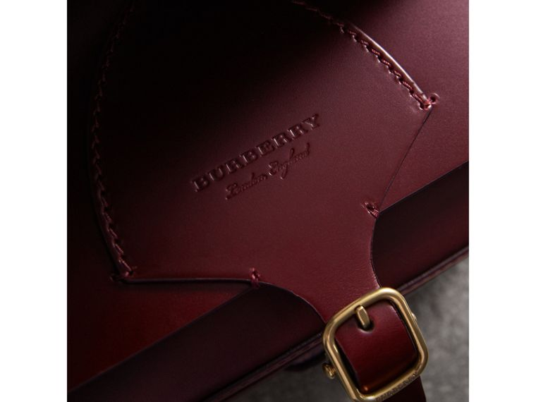 The Square Satchel in Bridle Leather in Deep Claret - Women | Burberry Australia - cell image 1