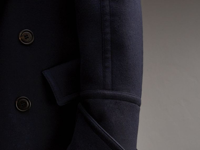 Detachable Cuff Stretch Cashmere Pea Coat - Men | Burberry Canada - cell image 4