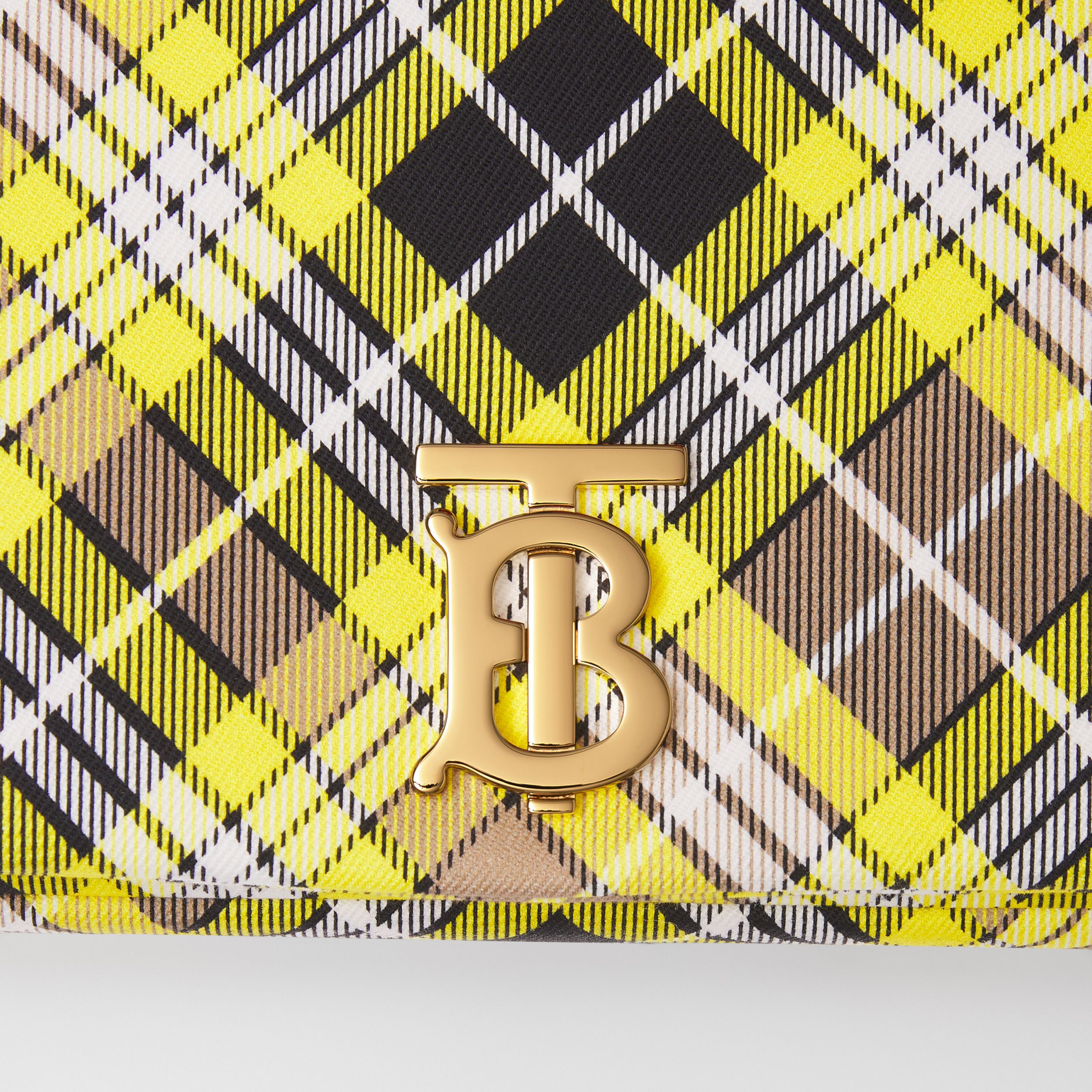 Small Tartan Cotton Lola Bag in Marigold Yellow - Women | Burberry - 2