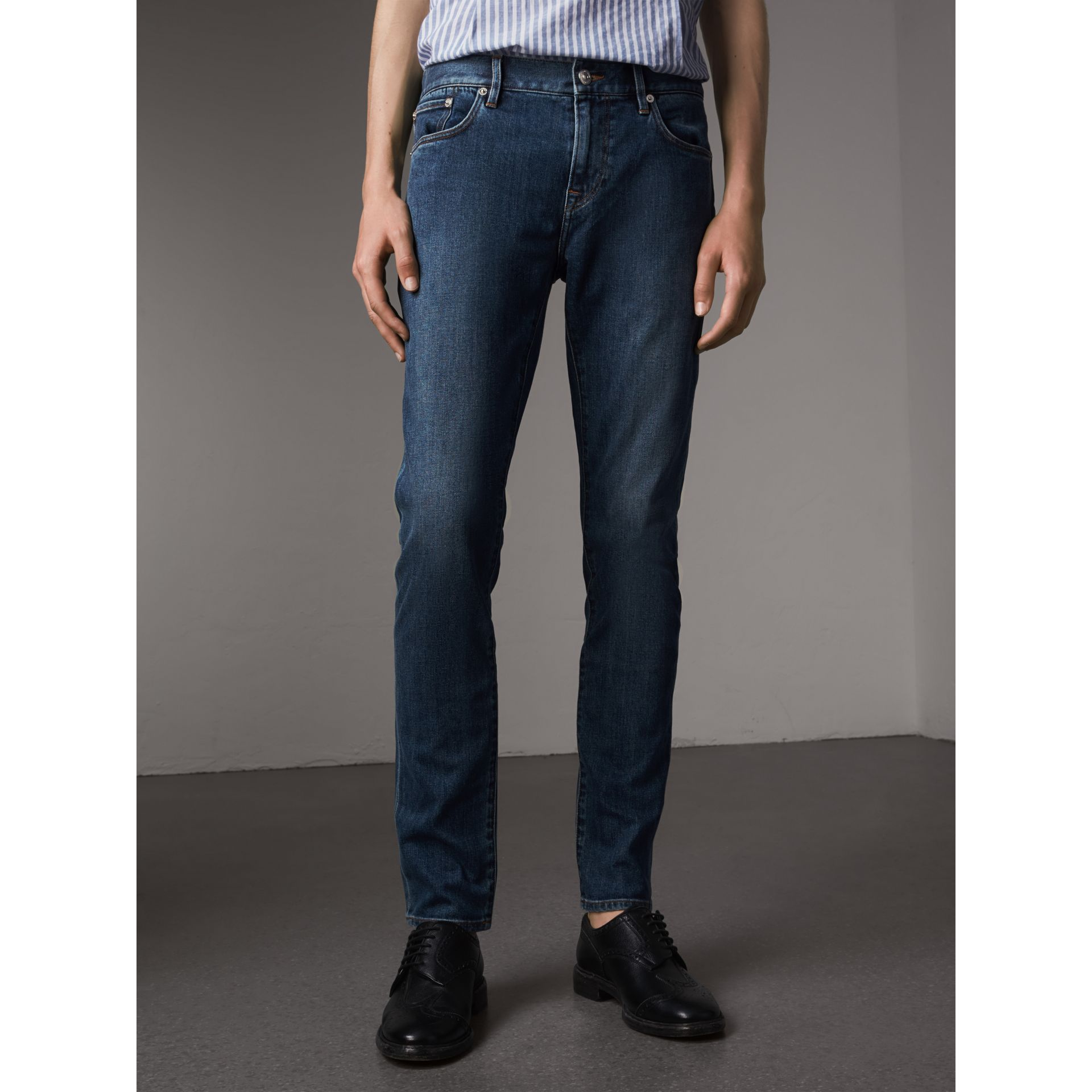 Slim Fit Japanese Denim Jeans - Men | Burberry - gallery image 1