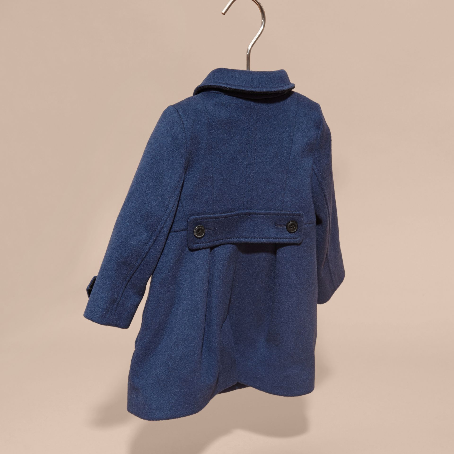 Bright navy Tailored Cashmere Coat Bright Navy - gallery image 4