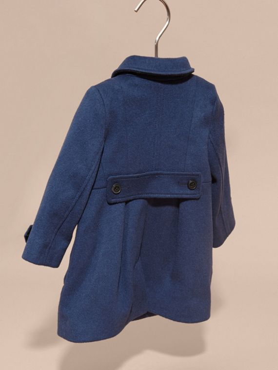 Tailored Cashmere Coat in Bright Navy - cell image 3